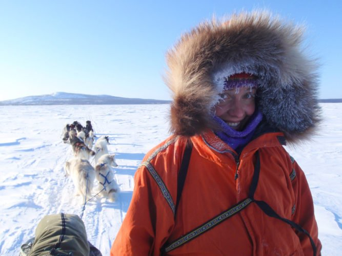 Virtual dogsledding assemblies are presented by Dave and Amy Freeman