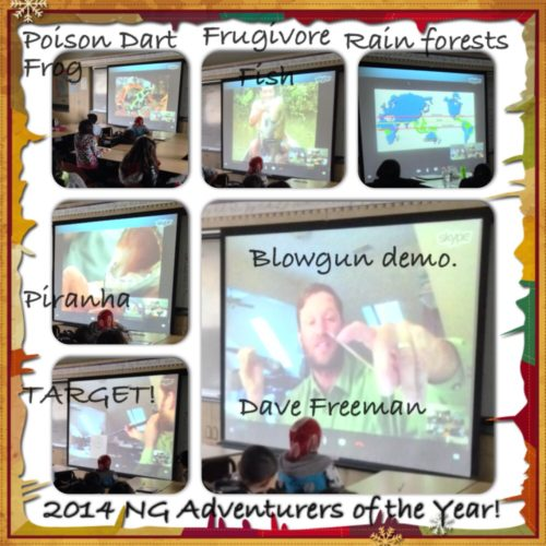 Dave Freeman delivers a virtual rainforest assembly to elementary school classrooms.
